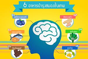6 อาหารบำรุงสมองขั้นเทพ