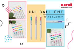 ปากกาเจล uni-ball one สีไหนก็โดนใจ